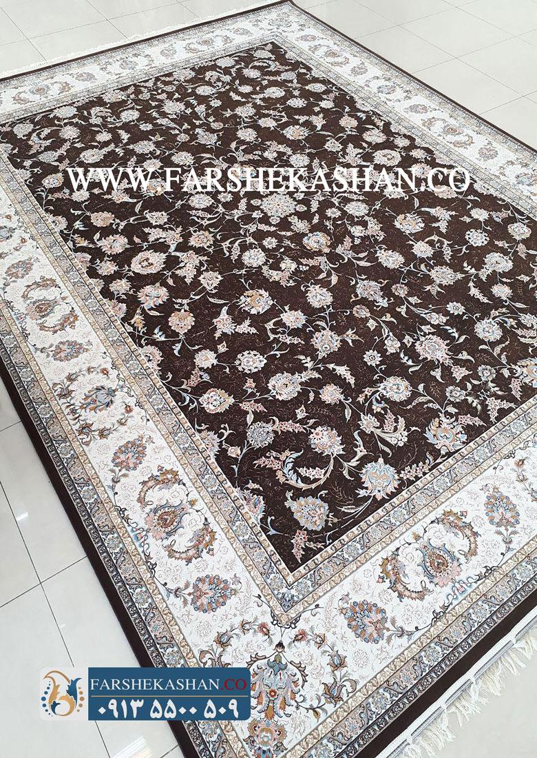 فرش ماشینی 1200 شانه کاشان طرح السا